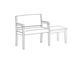 Bariatric Open Arm Chair / Accepts Any Table On Right