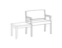 Bariatric Open Arm Side Chair / Accepts Any Table on Left