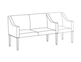 Two Place Sofa / Accepts Seat on Right