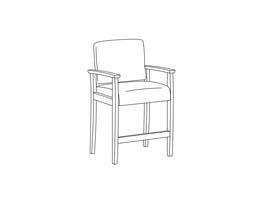 Hip Height Chair / Urethane Arms