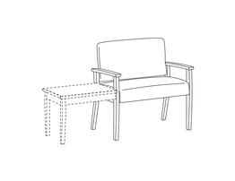 Bariatric Chair / Wood Arms / Accepts Table on Left
