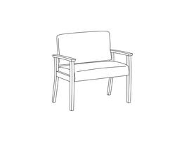 Bariatric Chair / Wood Arms