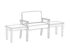 Bariatric Chair / Urethane Arms / Accepts Table on Left or Right