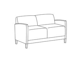 Two Place Sofa / Fully Upholstered