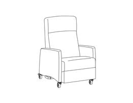 Trendelenburg Four Position Recliner / Upholstered Arm