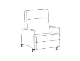 Bariatric Three Positon Recliner / Upholstered Arm