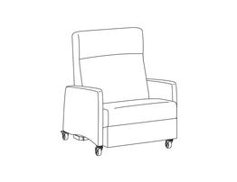 Bariatric Trendelenburg Four Position Recliner / Upholstered Arm