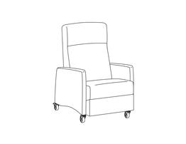 Three Position Recliner / Upholstered Arm