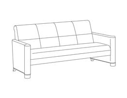 Three Place Sofa